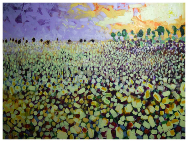 Flower Pickers 76x102cm Sold