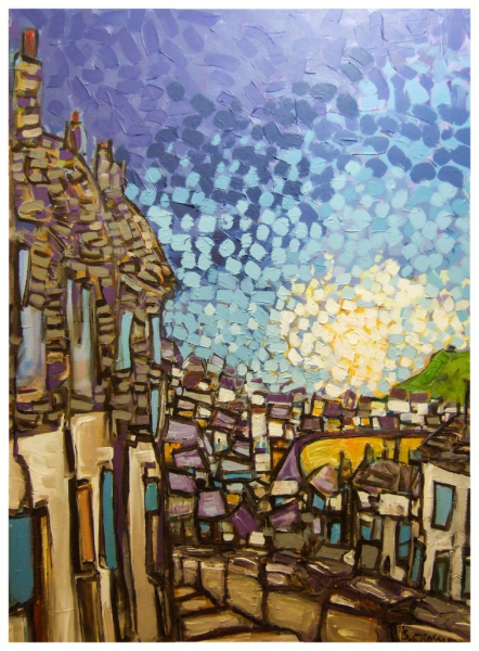 Top of Town 102x76cm Sold