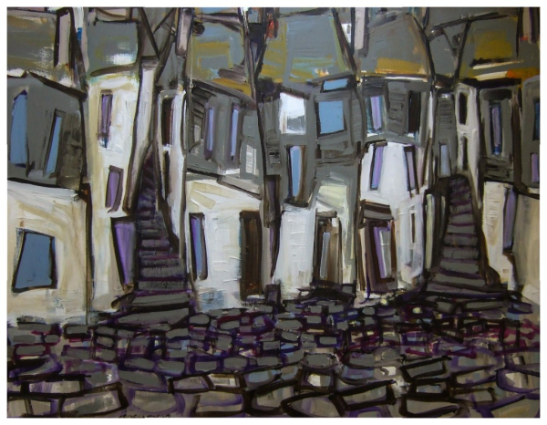 Cobbles and Steps 76x102cm Sold