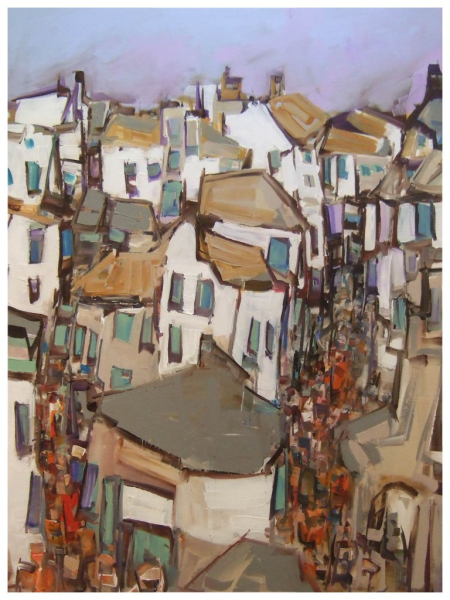 Roof Tops 102x76cm Sold