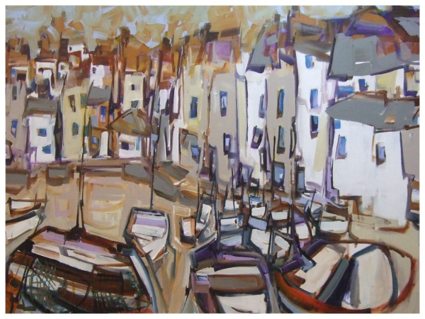 Nest of Boats 76x102cm Sold