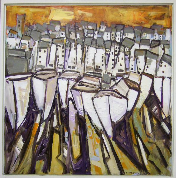 Boats 111 91cm x 91cm Sold
