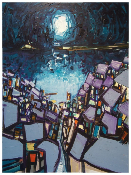 Cool Moon 102x76cm Sold