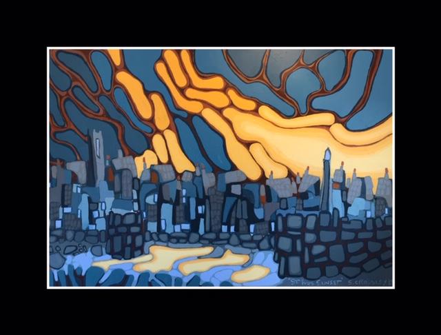 Harbour Sunset 11 (2019) 122x183cm