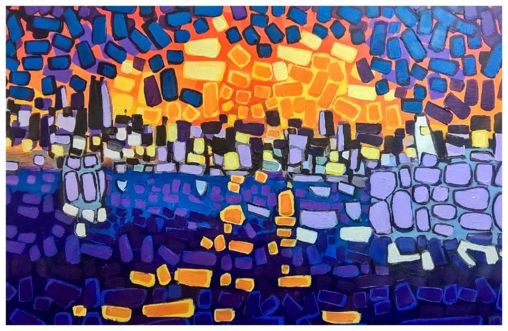 """""""Orange Reflections"""" 51x76cm"""