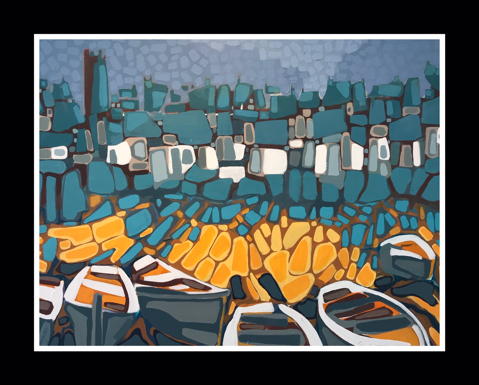 Boats (2019) 76x102cm Sold