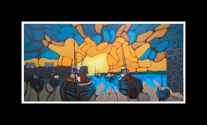 Harbour Sunrise (2019) 61x122 cm Sold