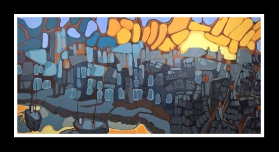 Harbour Sunset (2019) 61x122cm Sold