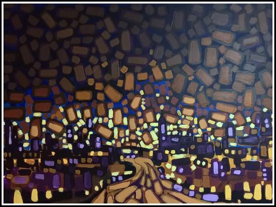 Night City 41x61cm