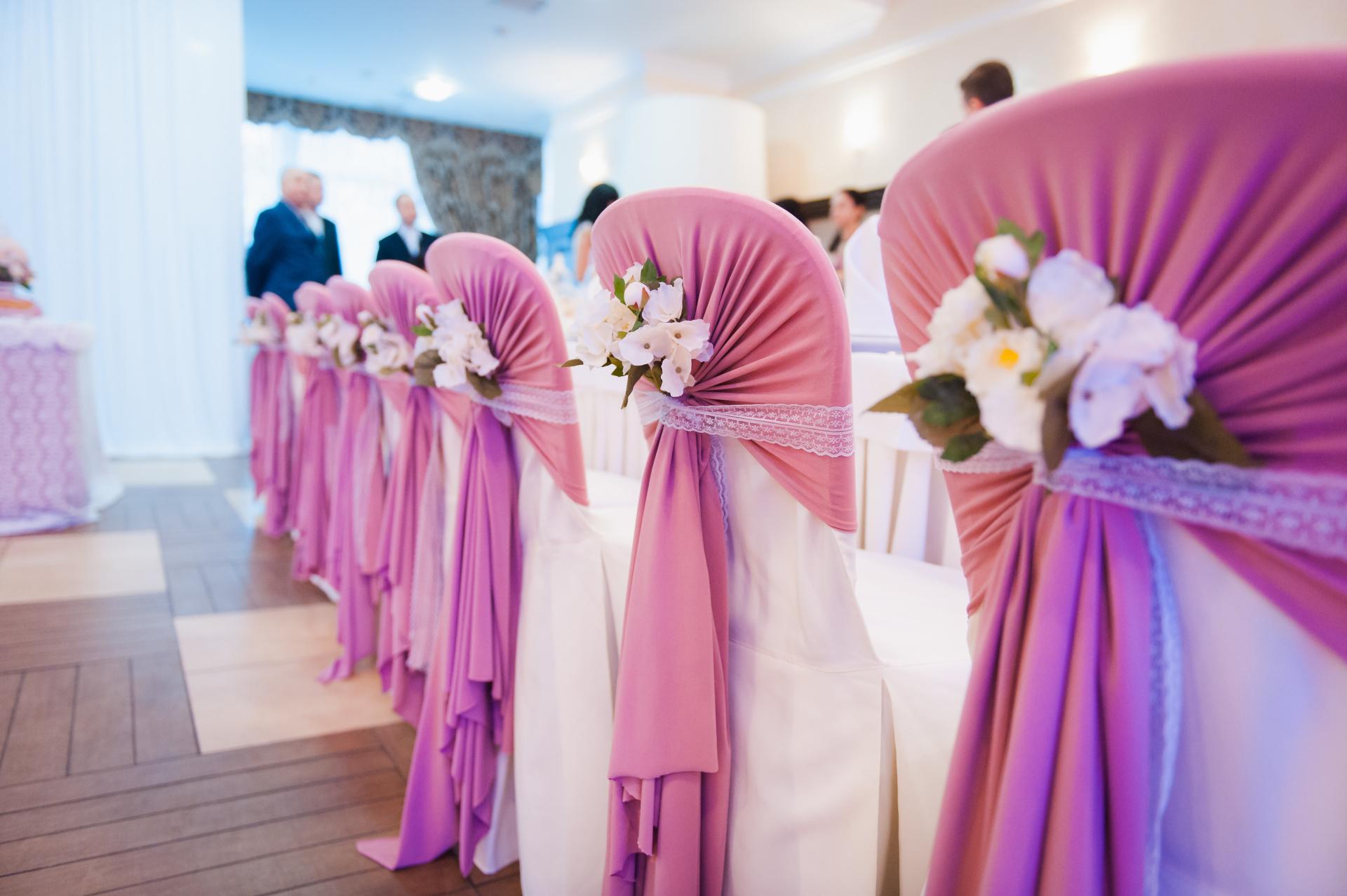 raspberry pink wedding, raspberry wedding chair hood cover sash, pink wedding, raspberry wedding, chair sash, chair hood, chair cover