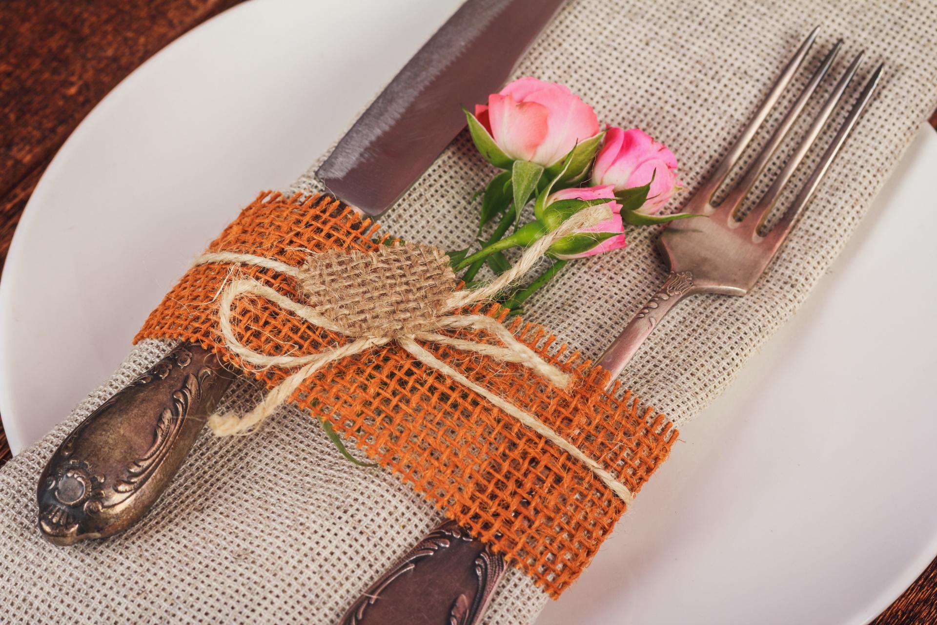 Wedding silverware decor, rustic wedding, wedding decor