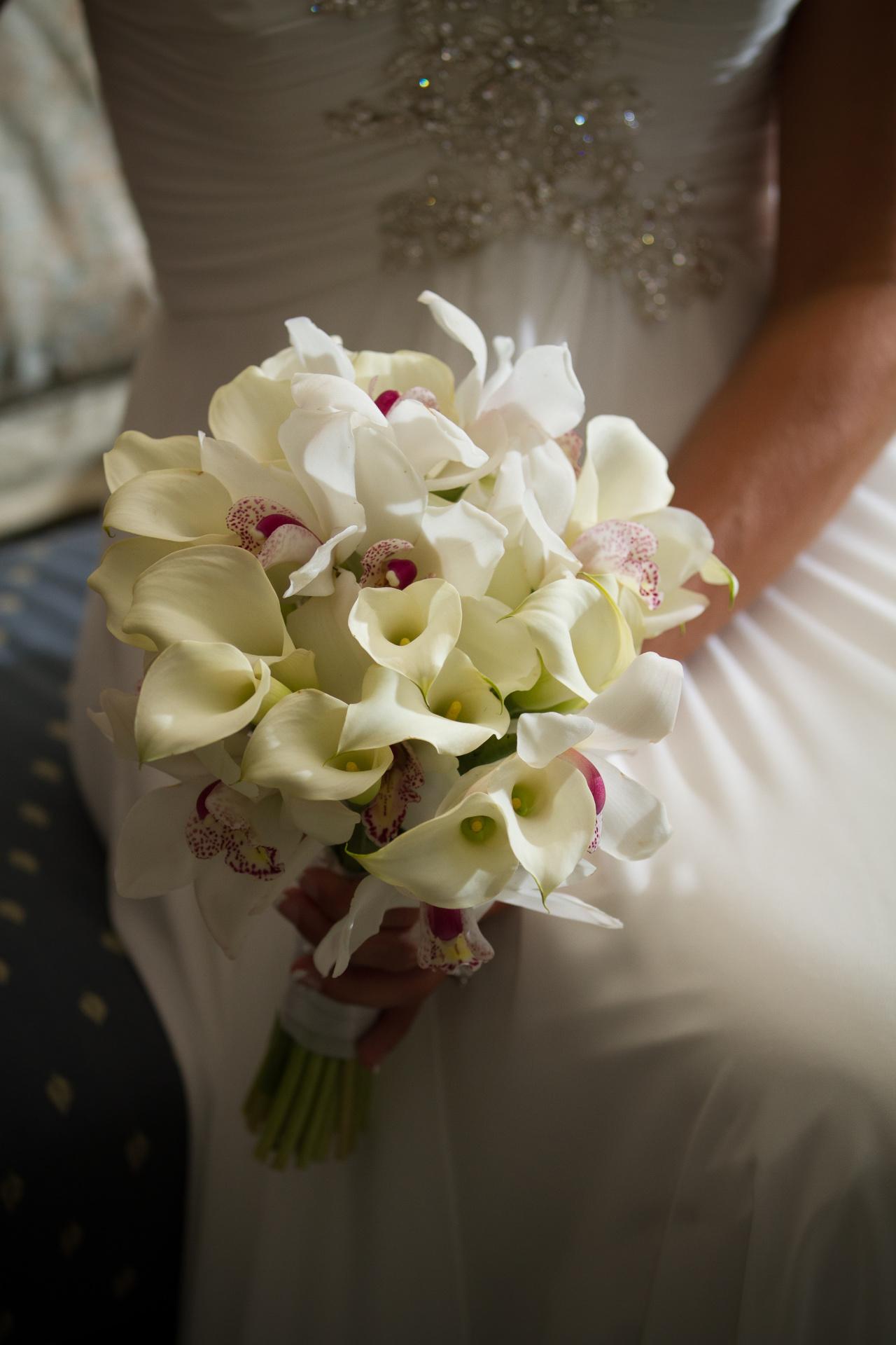 Calla Lily Wedding Bouquet, white wedding bouquet