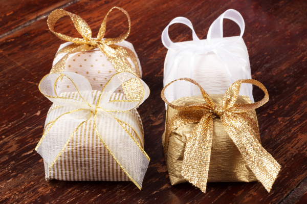 Gold wrapped soaps