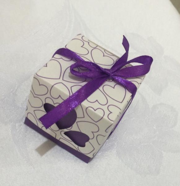 Purple and White heart box