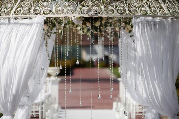 Elaborate Wedding arch, floral arbor
