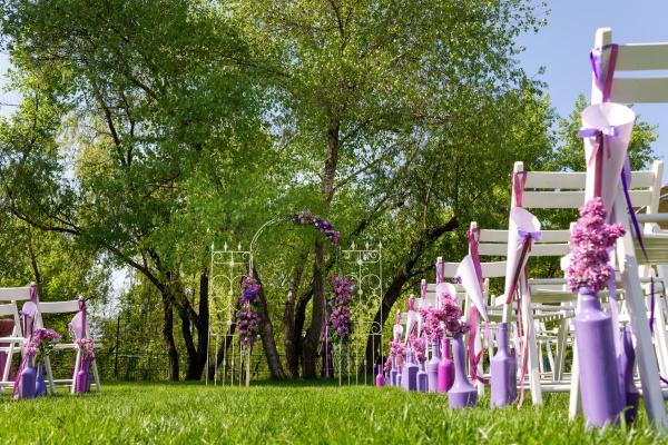Wedding Aisle, purples