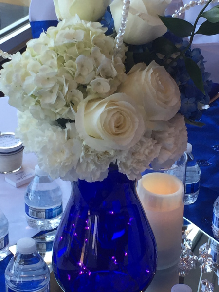 Blue white wedding