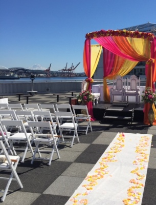 Circular Mandap, Dome, Chuppah frame metal. $150 fabric and flowers not included but available