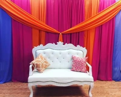 White Ornate Sofa $150 pillows optional