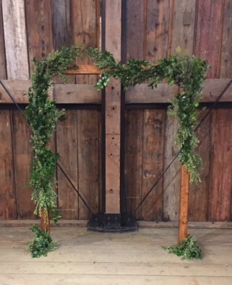 Rustic Simplicity Arbor $125 greenery not included but available
