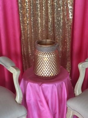 Large Gold Barrel Lantern $18.50
