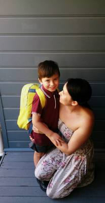 Kade's first day of big school.