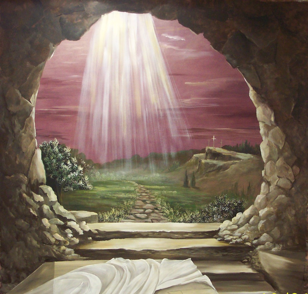 The open tomb resurrection Sunday