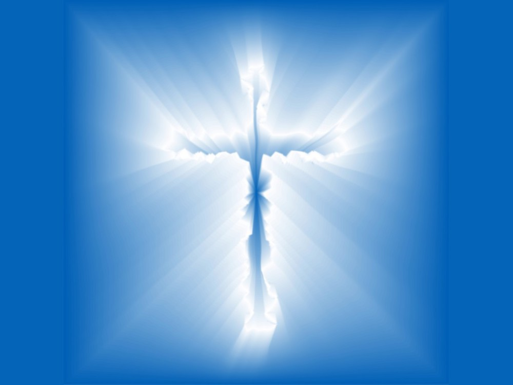 The Blue Crucifix of The Christian
