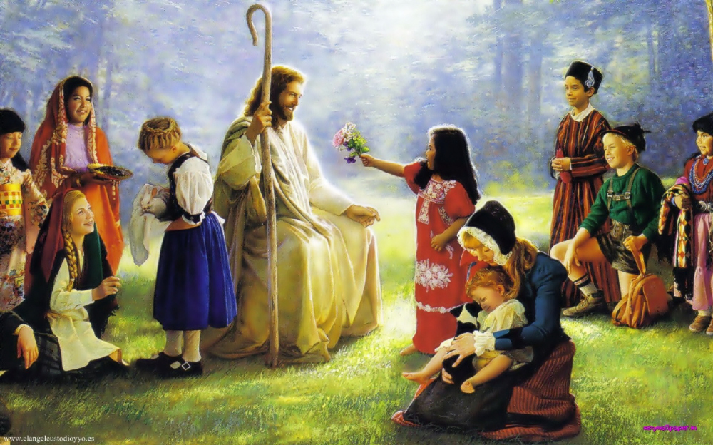 Image of Jesus with children