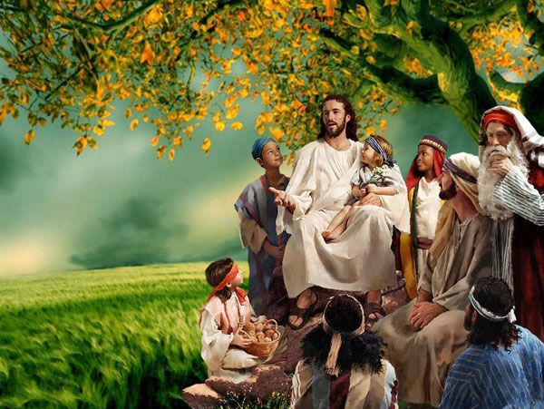Jesus the Christ with followers