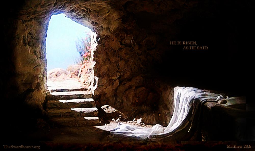 The empty tomb of Jesus
