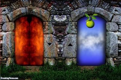 Doorways to Heaven and hell