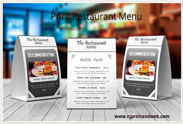 Restaurant, Menu, Printing