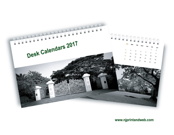 Desk, Desktop, Calendars, 2017
