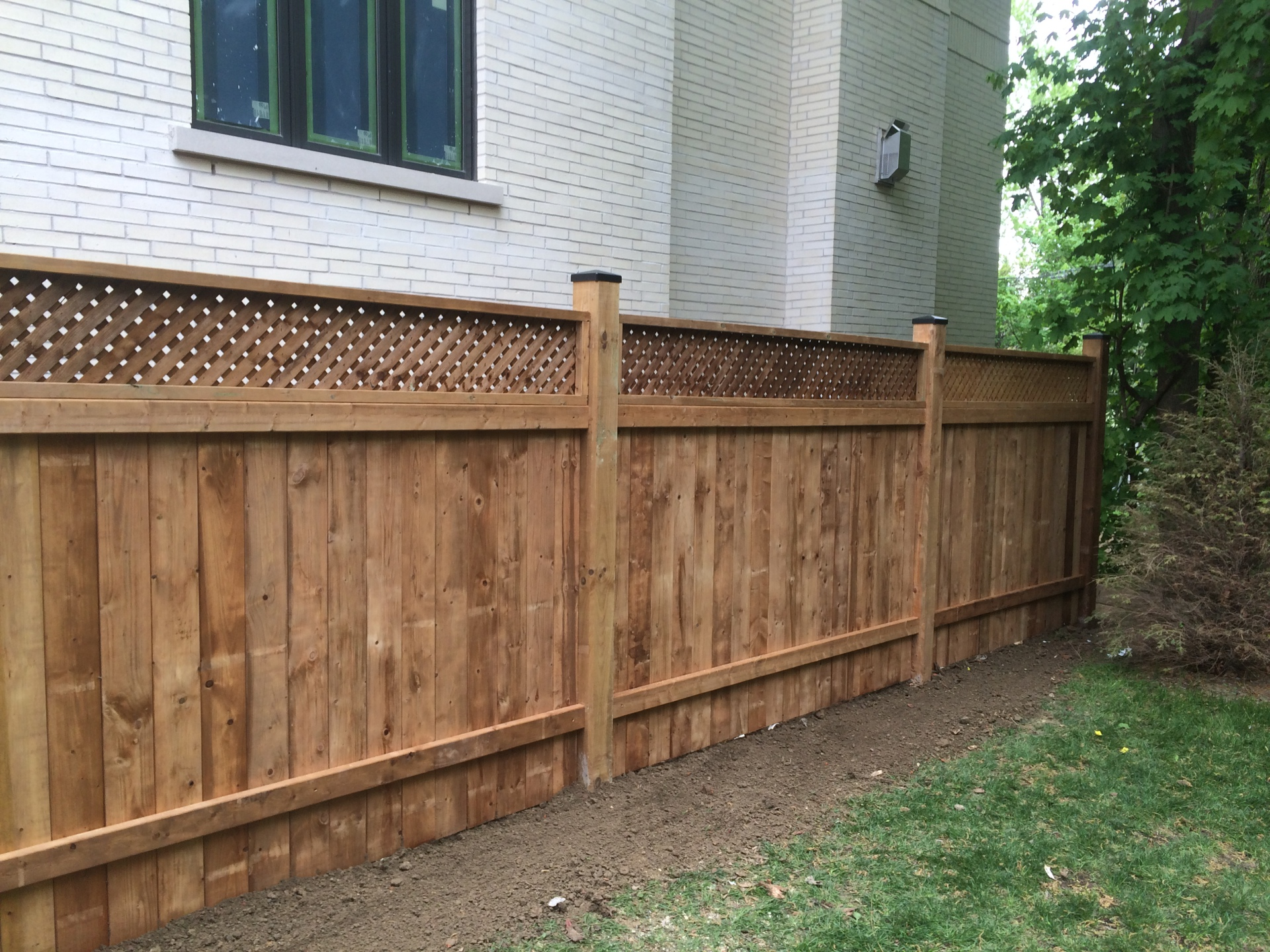 Brown Pressure Treated Fence