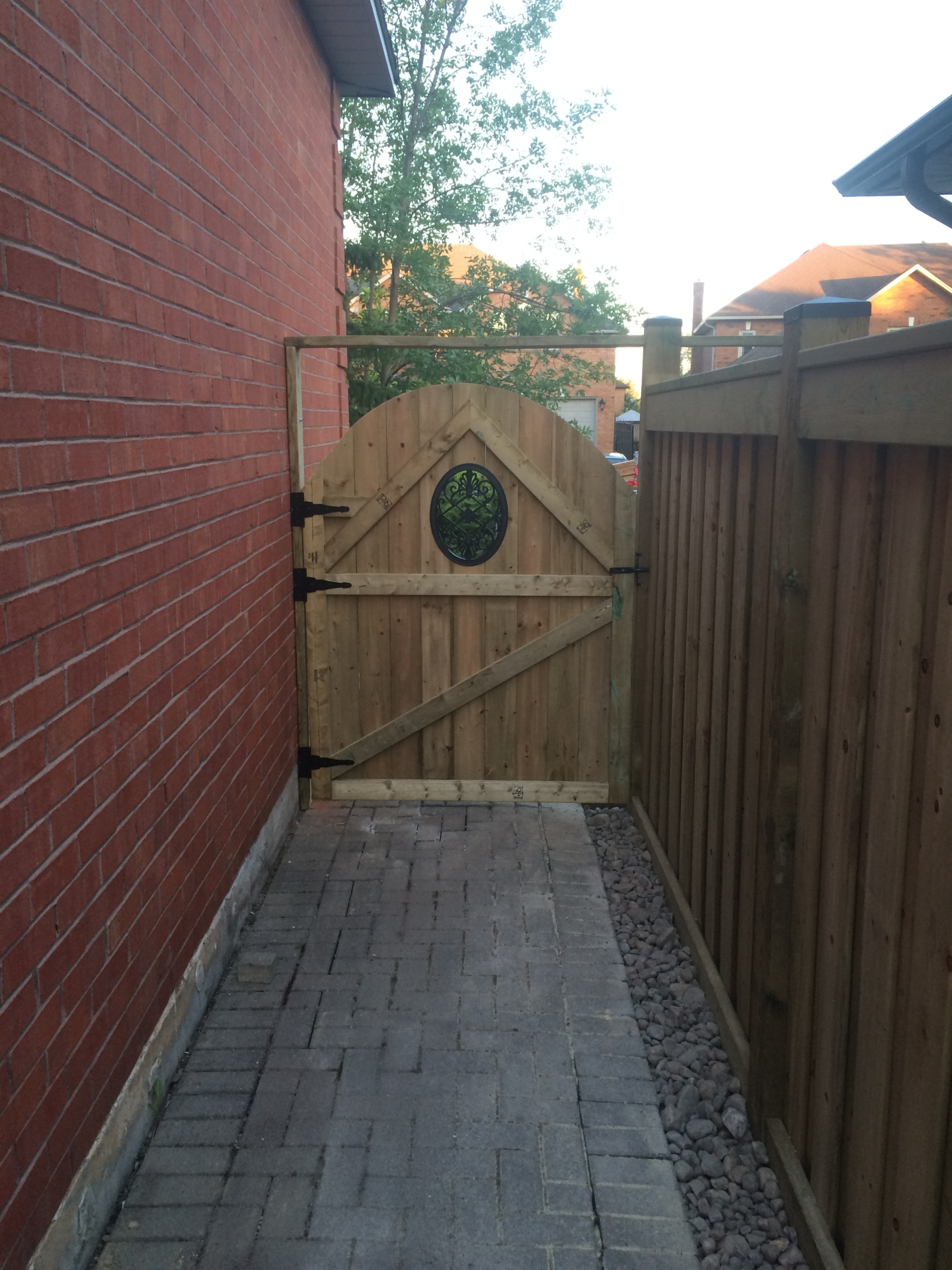 Green Pressure Treated Fence & Gate