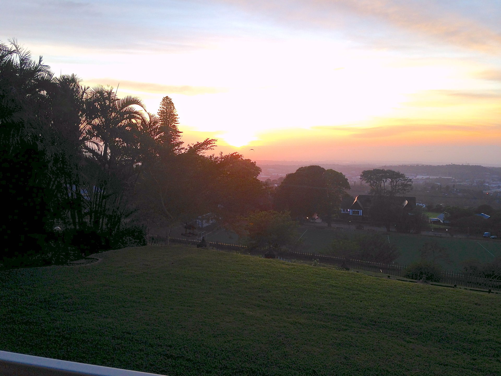 Breathtaking sunrise at Southeyhouse in Kloof KZN