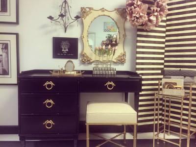 Black & Gold Vanity