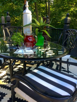 Black & White Deck Decor