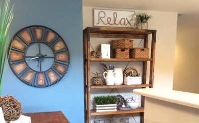 kitchen with wall clock