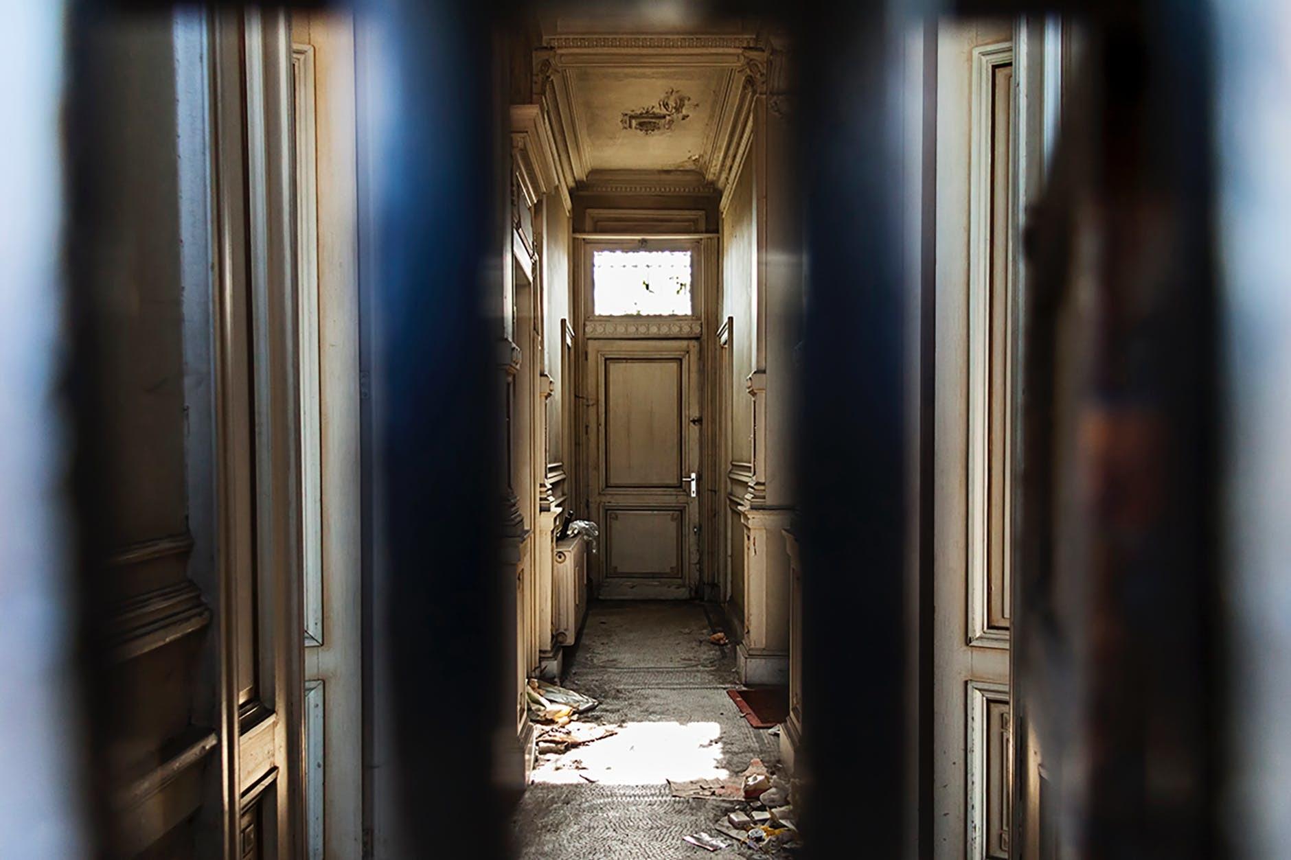 hallway with old door