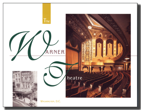 Warner Theatre brochure