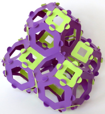 Connected truncated octahedra