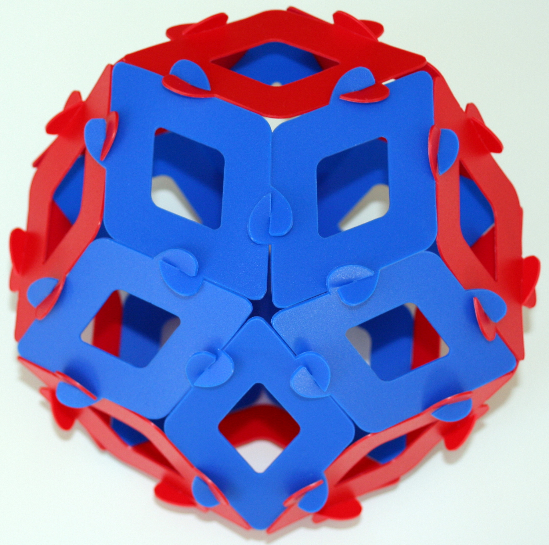 Rhombic icosahedron (reduced rhombic triacontahedron)