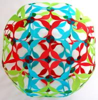 Rhombicuboctahedron + deltoidal icositetrahedron dual compound