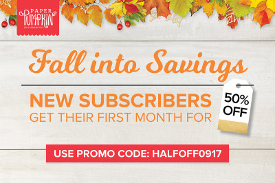 Fall Into Savings Paper Pumpkin