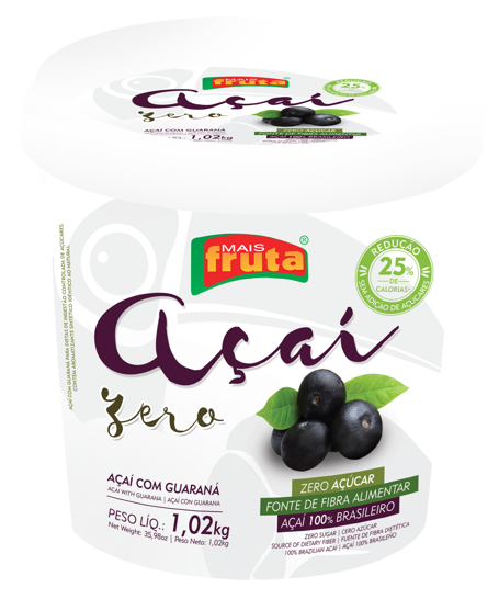 AÇAÍ SUGAR-FREE WITH GUARANA 1.02KG