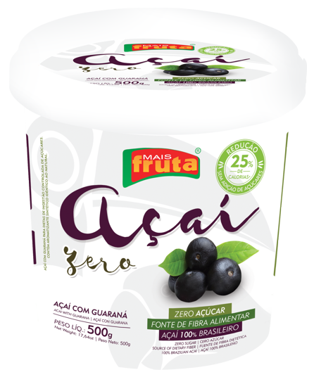 AÇAÍ SUGAR-FREE WITH GUARANA 500G