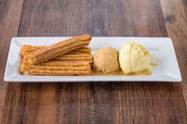 Churros w/ gelato scoops
