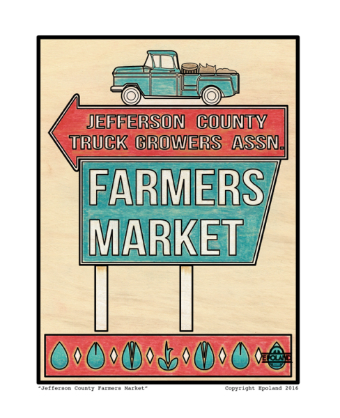 Jefferson County Farmers Market, Alabama Artist, Buy Local, Farmers Market Art, AL Artist